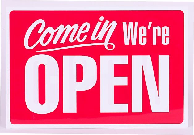 Open for business…